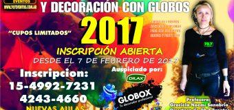 70.7 Eventos Lanzo su Curso de Globologia y Decoración con Globos 2017 dictado por la Profesora Graciela Noemi Sanabria
